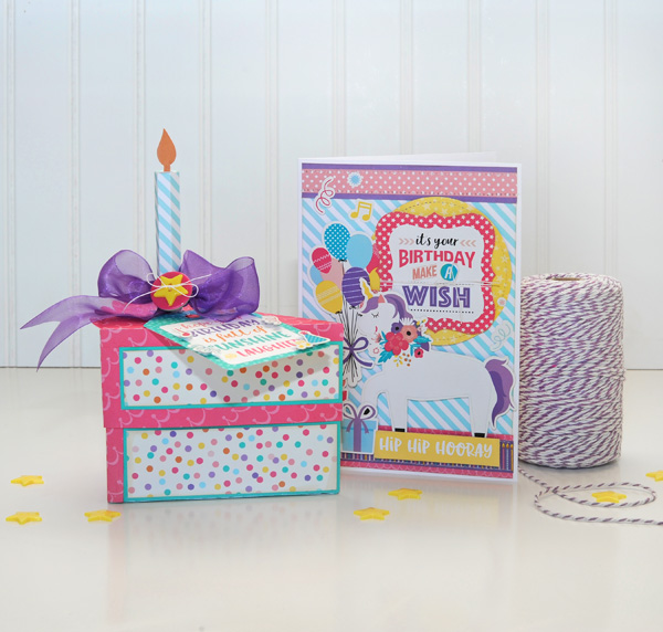 Jana Eubank Echo Park Happy Birthday Girl Cake Box and Card 1 600