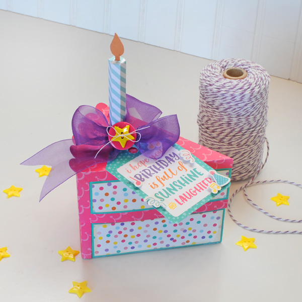 Jana Eubank Echo Park Happy Birthday Girl Cake Box and Card 2 600