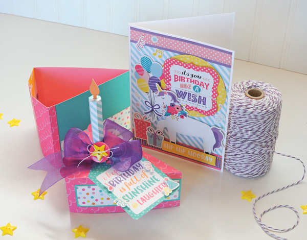 Jana Eubank Echo Park Happy Birthday Girl Cake Box and Card 5 600