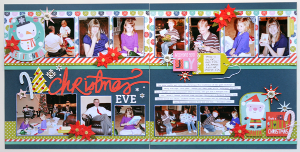 Jana Eubank Bella Blvd Holly Jolly Christmas Eve Scrapbook Page 1 600