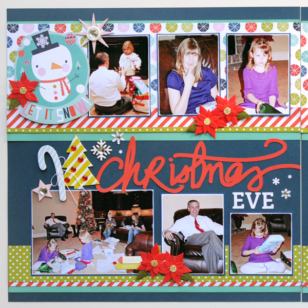 Jana Eubank Bella Blvd Holly Jolly Christmas Eve Scrapbook Page 2 Left 600