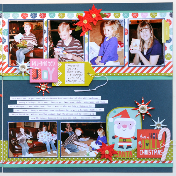 Jana Eubank Bella Blvd Holly Jolly Christmas Eve Scrapbook Page 3 Right 600