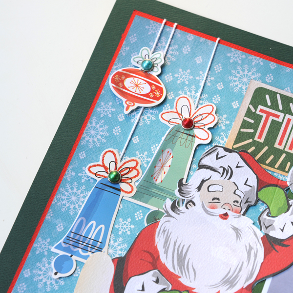 Jana Eubank Carta Bella A Very Merry Christmas Tinsel Rain Scrapbook Page 2 600