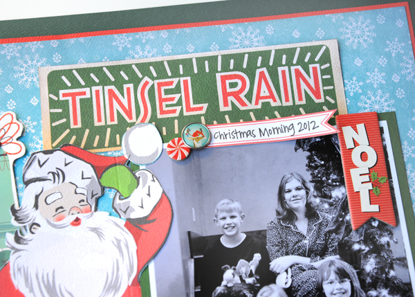 Jana Eubank Carta Bella A Very Merry Christmas Tinsel Rain Scrapbook Page 3 600
