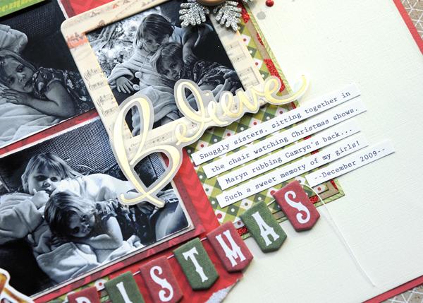 Jana Eubank Christmas Stashbuster Believe Scrapbook Page 3 600