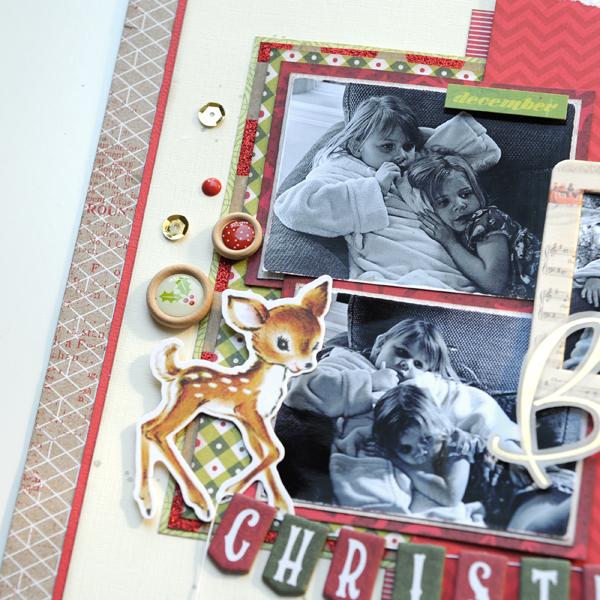 Jana Eubank Christmas Stashbuster Believe Scrapbook Page 4 600