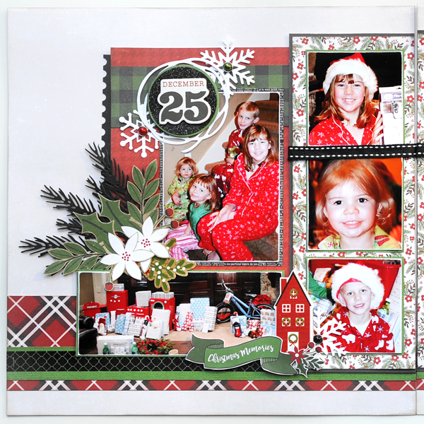 Jana Eubank Echo Park Paper A Perfect Christmas December 25th Two Page Scrapbook Layout 2 Left 600