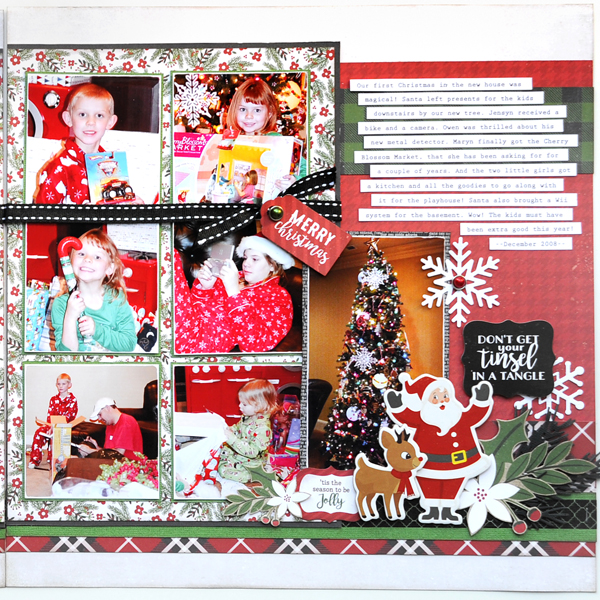 Jana Eubank Echo Park Paper A Perfect Christmas December 25th Two Page Scrapbook Layout 3 Right 600