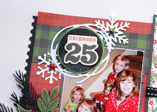 Jana Eubank Echo Park Paper A Perfect Christmas December 25th Two Page Scrapbook Layout 4 600