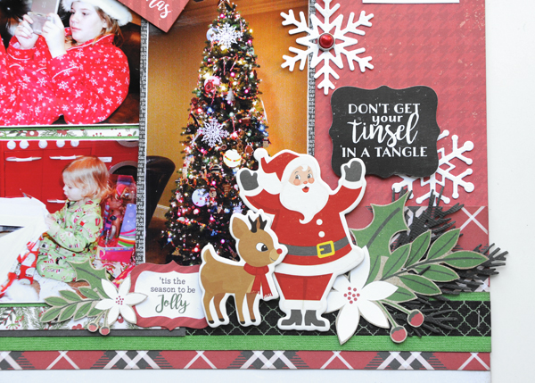 Jana Eubank Echo Park Paper A Perfect Christmas December 25th Two Page Scrapbook Layout 7 600