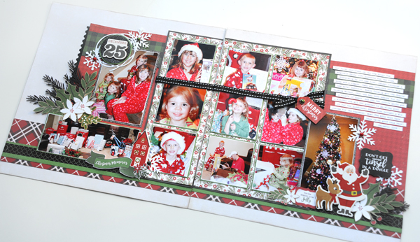 Jana Eubank Echo Park Paper A Perfect Christmas December 25th Two Page Scrapbook Layout 9 600