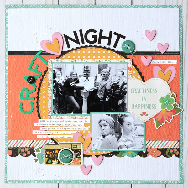 Jana Eubank Echo Park Rather Be Crafting Craft Night Scrapbook Page 1 600