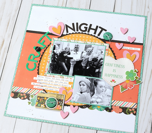 Jana Eubank Echo Park Rather Be Crafting Craft Night Scrapbook Page 5 600