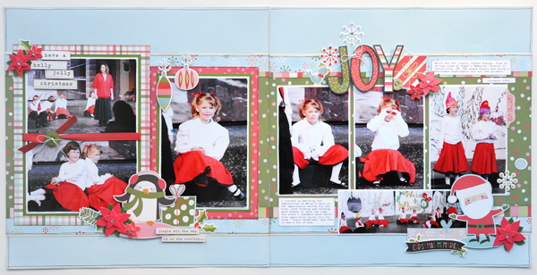 Jana Eubank Simple Stories Oh What Fun Joy Scrapbook Page 1 600