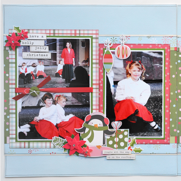 Jana Eubank Simple Stories Oh What Fun Joy Scrapbook Page 2 Left 600