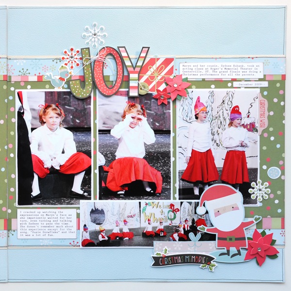 Jana Eubank Simple Stories Oh What Fun Joy Scrapbook Page 3 Right 600