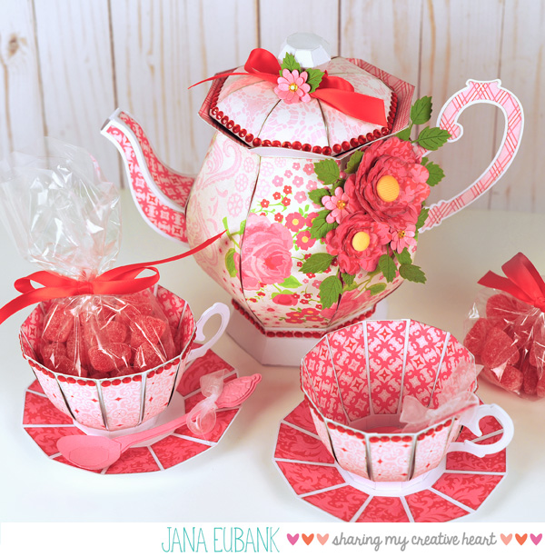 Jana Eubank - Studio 5 - Tea Pot and Tea Cups 1 Original SQUARE 600