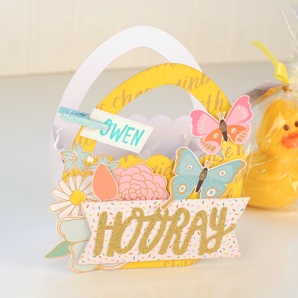 Jana Eubank - American Crafts - Dear Lizzy - Stay Colorful - Easter Egg Favor Bags 3 600