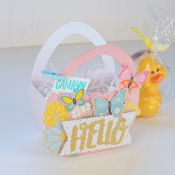 Jana Eubank - American Crafts - Dear Lizzy - Stay Colorful - Easter Egg Favor Bags 7 600