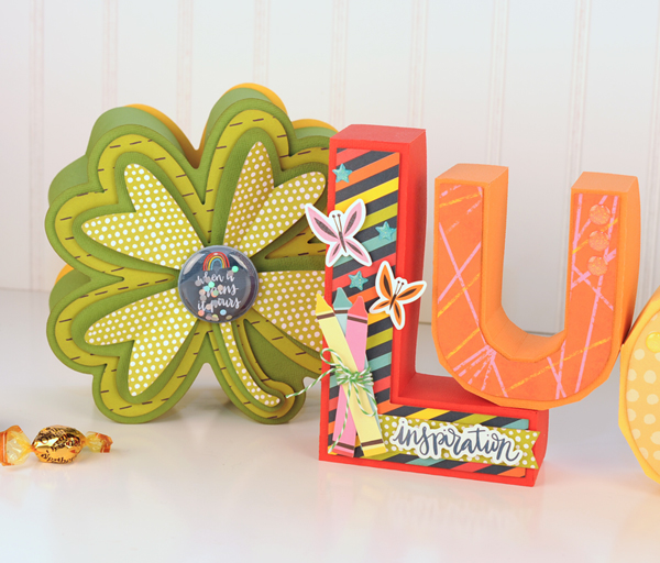 Jana Eubank - American Crafts - Shimelle - Box of Crayons - Lucky Letters 3 600