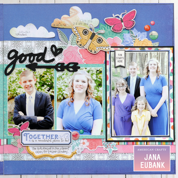 Jana Eubank - American Crafts - Vicki Boutin - All the Good Things - Life Is Good Scrapbook Page 3 600