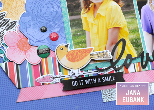 Jana Eubank - American Crafts - Vicki Boutin - All the Good Things - Life Is Good Scrapbook Page 5 600