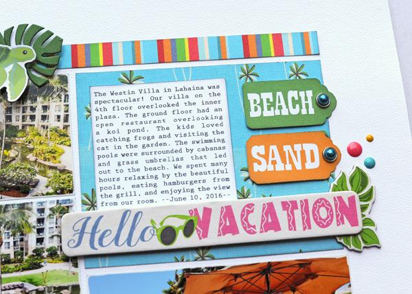 Jana Eubank Carta Bella Summer Splash Hello Vacation Layout 3 600