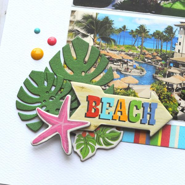 Jana Eubank Carta Bella Summer Splash Hello Vacation Layout 4 600