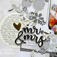 Simple Stories: Mr. and Mrs. Scrapbook Page