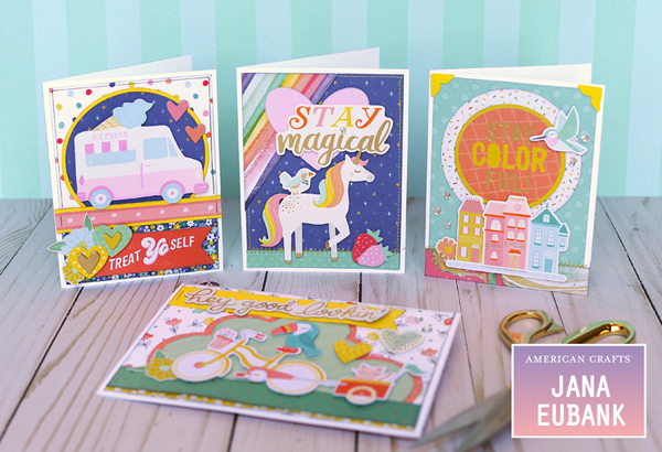 Jana Eubank American Crafts Dear Lizzy Stay Colorful Birthday Cards 1 600