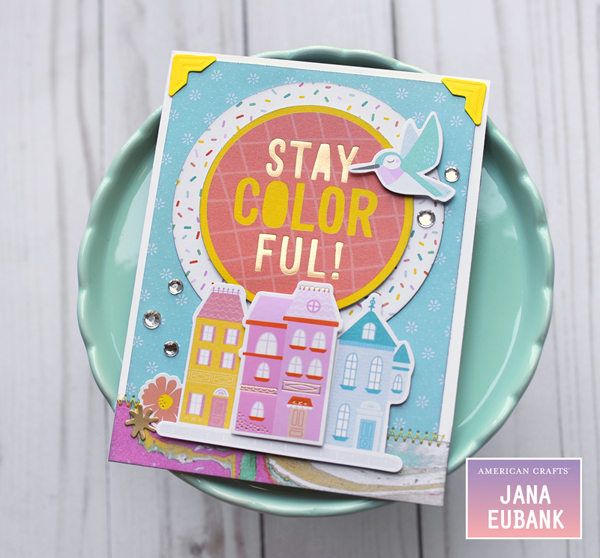 Jana Eubank American Crafts Dear Lizzy Stay Colorful Birthday Cards 4 600