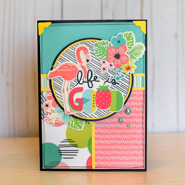 Jana Eubank Simple Stories Hello Summer Life Is Good Flamingo Card 1 600