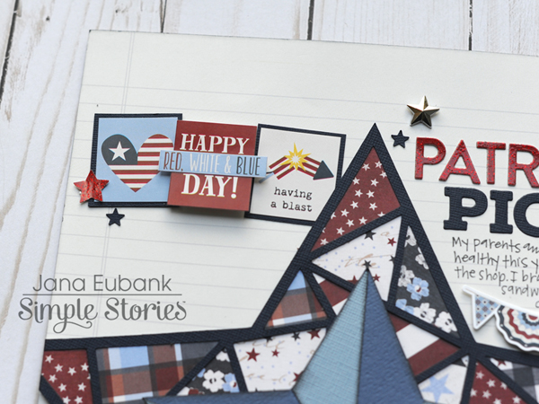 Jana Eubank Simple Stories Hometown USA Patriotic Picnic Layout 2 600