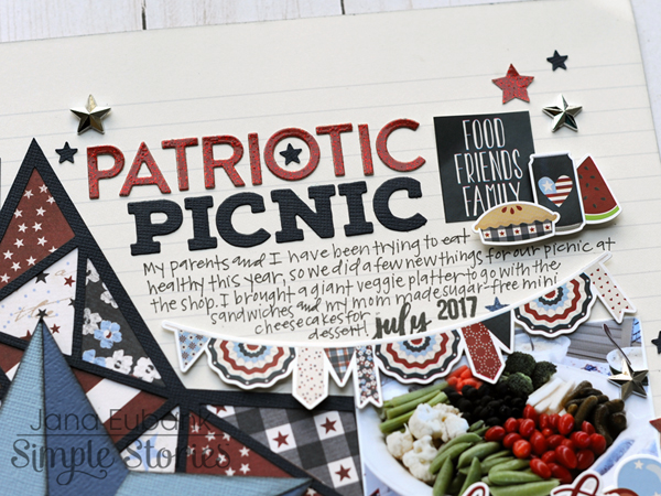 Jana Eubank Simple Stories Hometown USA Patriotic Picnic Layout 3 600