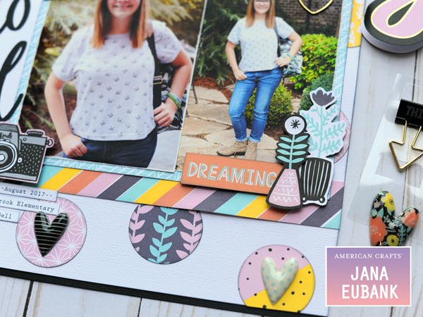 Jana Eubank American Crafts Amy Tangerine Shine On Back to School Layout 4 600
