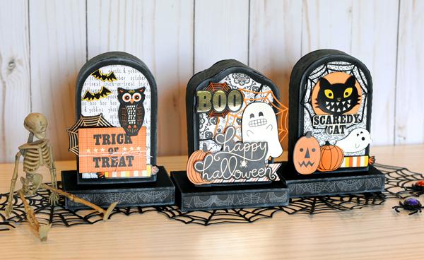 Jana Eubank DCWV Halloween Spirit Tombstone Gift Boxes 1 600