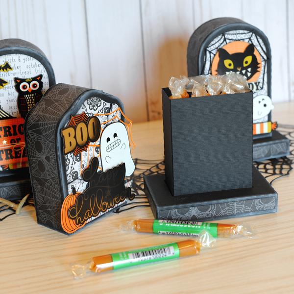 Jana Eubank DCWV Halloween Spirit Tombstone Gift Boxes 4 600