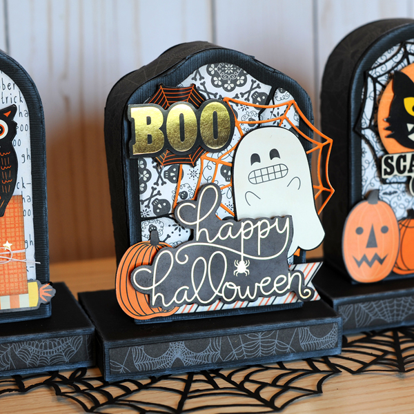 Jana Eubank DCWV Halloween Spirit Tombstone Gift Boxes 6 600