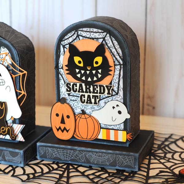 Jana Eubank DCWV Halloween Spirit Tombstone Gift Boxes 7 600
