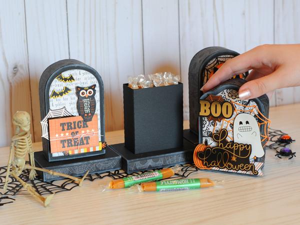 Jana Eubank DCWV Halloween Spirit Tombstone Gift Boxes 9 600