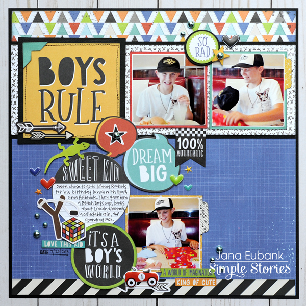 Jana Eubank Simple Stories Lil Dude Boys Rule Layout 1 600