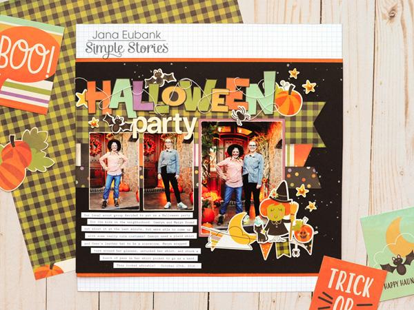 Jana Eubank Simple Stories Happy Halloween Party Layout 1 600