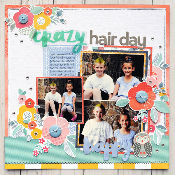 Jana Eubank Amy Tangerine Oh Happy Day Crazy Hair Day 1 600
