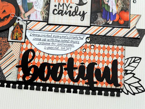 Jana Eubank Scrapbooking Store Authentique Nightfall Bootiful Layout 4 600