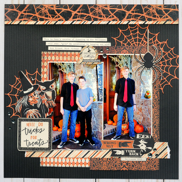 Jana Eubank Scrapbooking Store Authentique Nightfall Tricks for Treats Layout 1 600