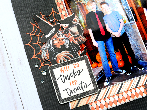 Jana Eubank Scrapbooking Store Authentique Nightfall Tricks for Treats Layout 3 600