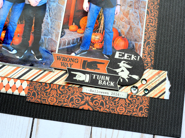 Jana Eubank Scrapbooking Store Authentique Nightfall Tricks for Treats Layout 4 600