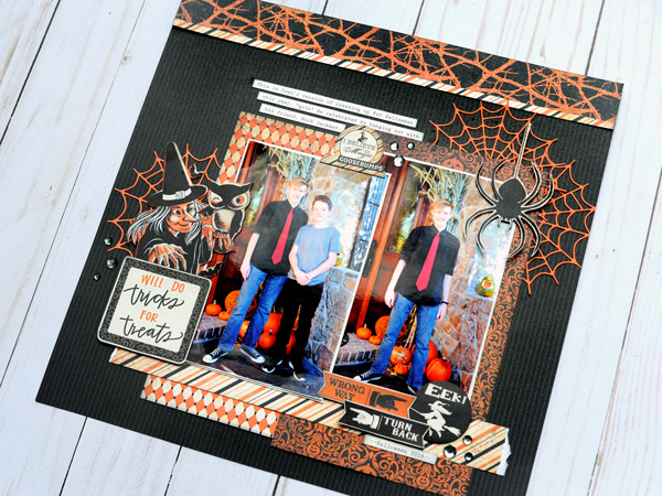 Jana Eubank Scrapbooking Store Authentique Nightfall Tricks for Treats Layout 5 600