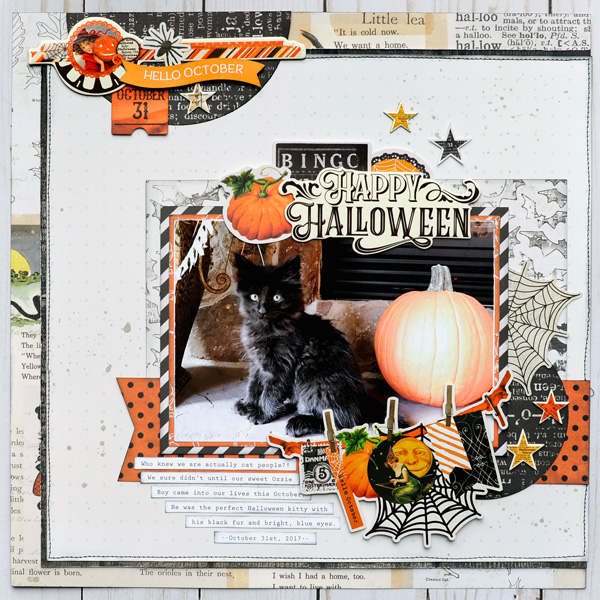 Jana Eubank Simple Stories Happy Halloween Kitty Layout 1 600