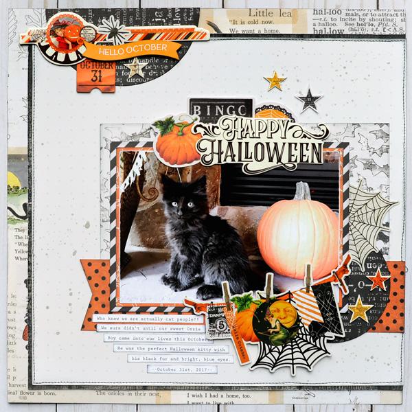 Jana Eubank Simple Stories Happy Halloween Kitty Layout 1 600